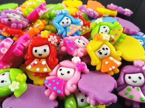 YAKA 30pcs Mix Resin Flatback Cute Little Girl the Scrapbooking DIY Craft Applique (Resin Accessories)
