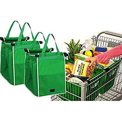 Go Grab Bag | Reusable Eco-Friendly Grocery Bag with 66 lbs Capacity | Highly Durable Mold-Resistant Polypropylene | Strong Handles with Super Convenient Front Pocket | Simple Cleaning and Foldable | 898