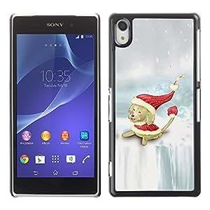 YOYO Slim PC / Aluminium Case Cover Armor Shell Portection //Christmas Holiday Cute Holiday Dog Puppy 1185 //Sony Xperia Z2