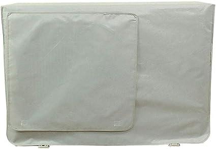 Gris 90x62x38cm Gris Clair Yardwe Housse pour climatiseur pour ext/érieur Couverture pour Protection Anti-poussi/ère pour Le Soleil Coque en Tissu ral 7035