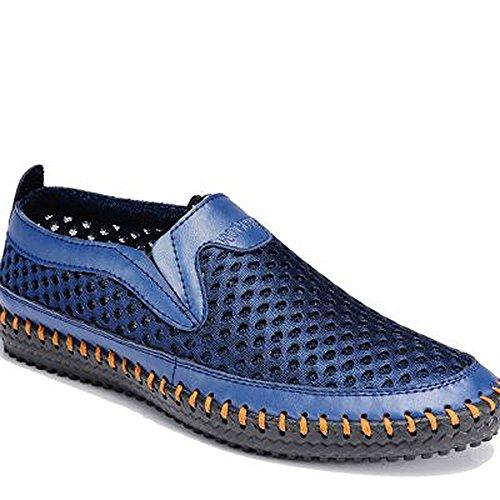 Mixsnow Mens Acqua Scarpe Maglia Casual Scarpe Da Passeggio Slip-on Mocassini Blu
