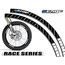 Senge Graphics Race Series White rim protector set for one 19 inch rim and one 21 inch rim