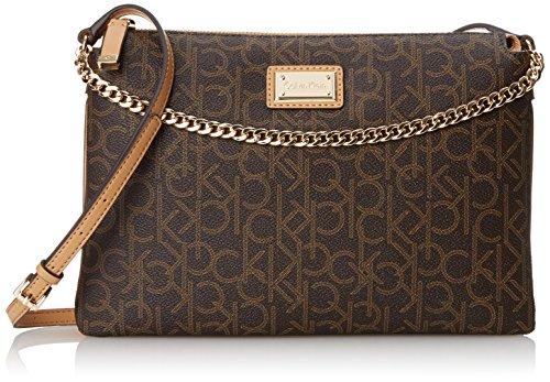 9cf5a11b4 Calvin Klein Monogram Zip Cross Body Bag, Brown/Khaki/Camel ...