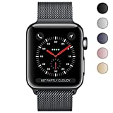 Electronics : Apple Watch Band 42mm, KYISGOS Strong Magnetic Milanese Loop Stainless Steel Replacement iWatch Strap for Apple Watch Series 3 2 1 Nike+ Sport and Edition, Black