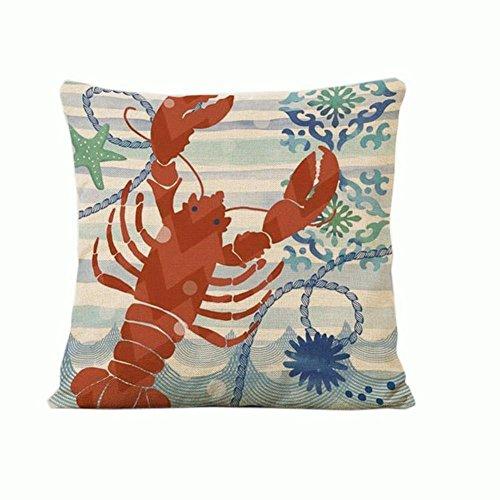 Crazy Cart Ocean Themed Marine Life Series Throw Pillow