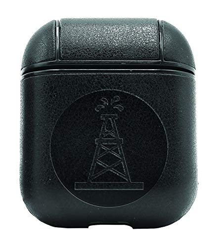 Oilfield Roughneck (Vintage Black) Air Pods Protective Leather Case Cover - a New Class of Luxury to Your AirPods - Premium PU Leather and Handmade exquisitely by Master Craftsmen