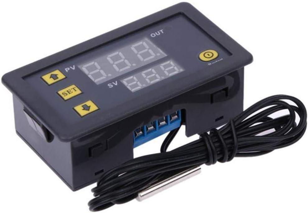 ARCELI Alarma de Alta Temperatura del regulador del Metro del regulador de Temperatura del termóstato del LCD Digital 12V 20A W3230