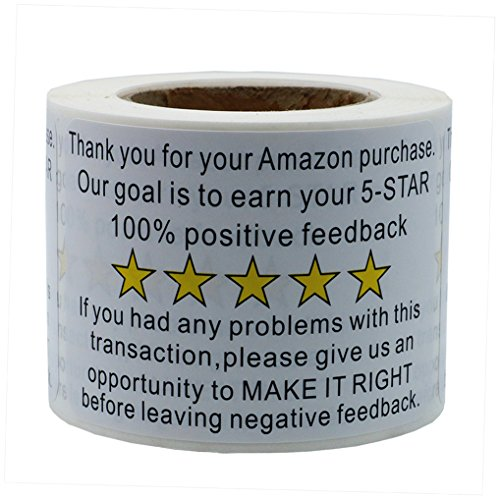 Hybsk 2x 3 Amazon Thank You For Your Purchase Feedback Shipping Labels Adhesive Label 200 Per Roll