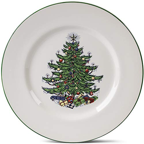 Original Christmas Tree Dinner Plate, Set of 4 (English Dinner Traditional Christmas)