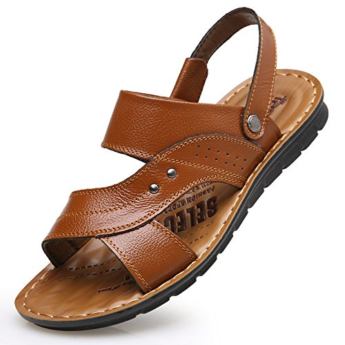 Frühling Das neue Männer Strand Schuh Trend Atmungsaktiv Männer Sandalen Dualer Gebrauch Sandalen Männer Schuh Freizeit Männer Sandalen ,Gelb,US=9,UK=8.5,EU=42 2/3,CN=44