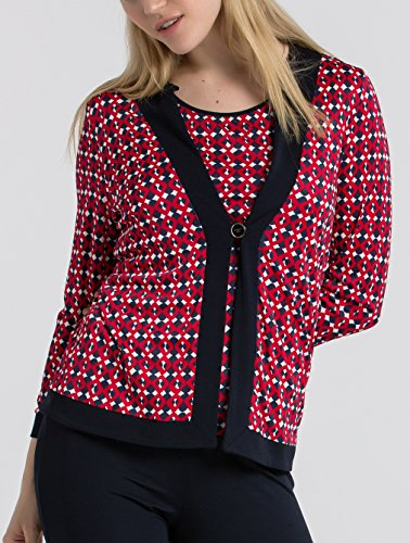 398 T Mehrfarbig Donna Naulover rot Cappotto XZznXAH