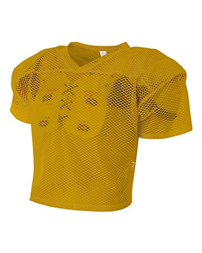 Youth Gold Small/Medium Football Poly/Mesh All Porthole Practice Jersey