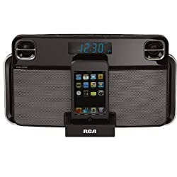 Rca Ipodiphone Dual Alarm Clock Radio With Docking Station (Black)