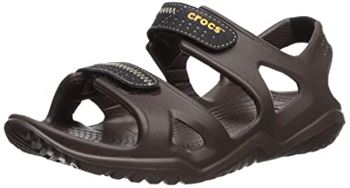 8f1a47b1dddfc Crocs Men Swiftwater River Fisherman Sandal, Brown (Espresso / Black 23K), 5