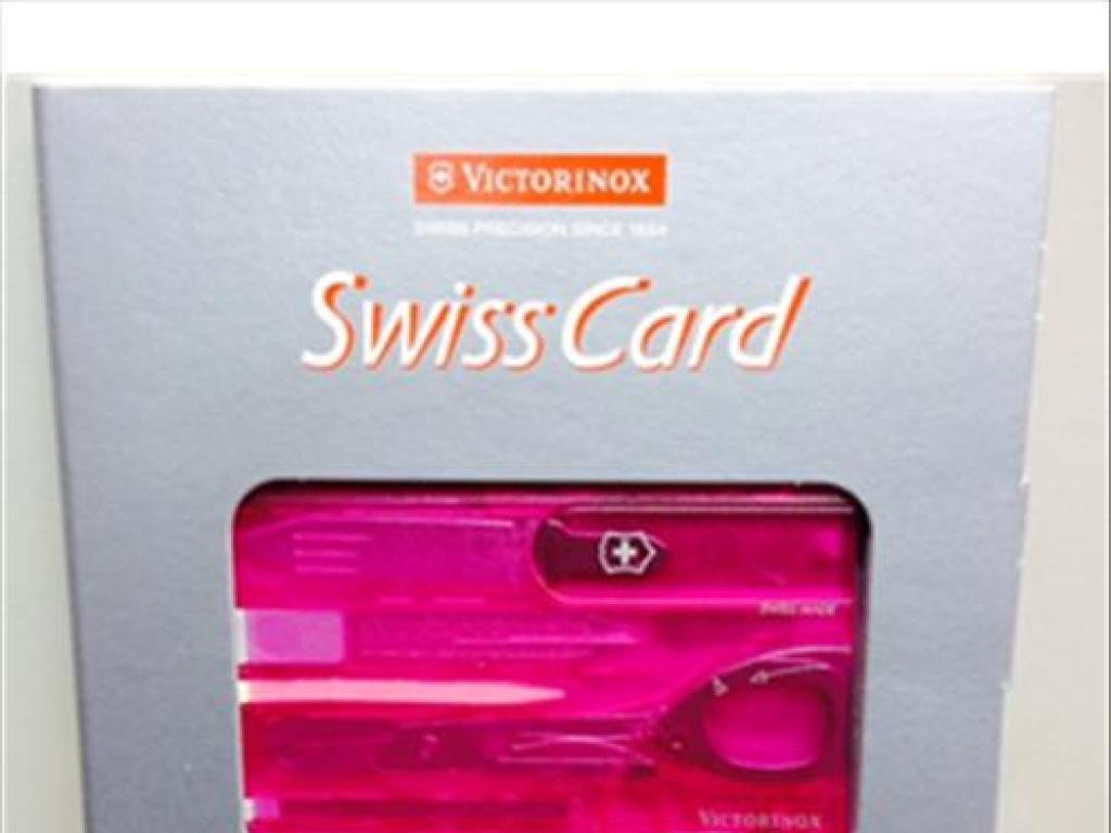 Navaja/VICTORINOX:TARJETA SWISS CARD MISC ROSA TRA PERFIL ...
