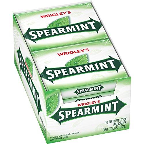 (Wrigley's Spearmint Gum, 15-Stick Pack (10 packs))