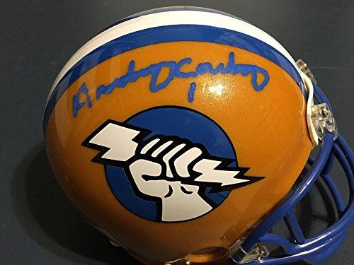 Anthony Carter (NFL) Autographed Helmet - Oakland Invaders Usfl Riddell Mini - Autographed NFL Mini Helmets