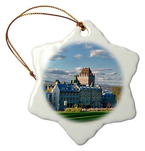 pansy Funny Christmas Snowflake Ornaments Canada Quebec City The Chateau Frontenac Hotel Holiday Xmas Tree Hanging Ornaments Decoration Gifts