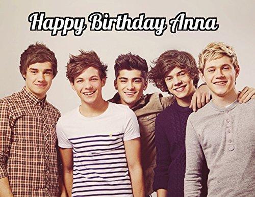 One Direction 1D Image Photo Cake Topper Sheet Personalized Custom Customized Birthday Party - 1/4 Sheet - - Selena Sweet Gomez