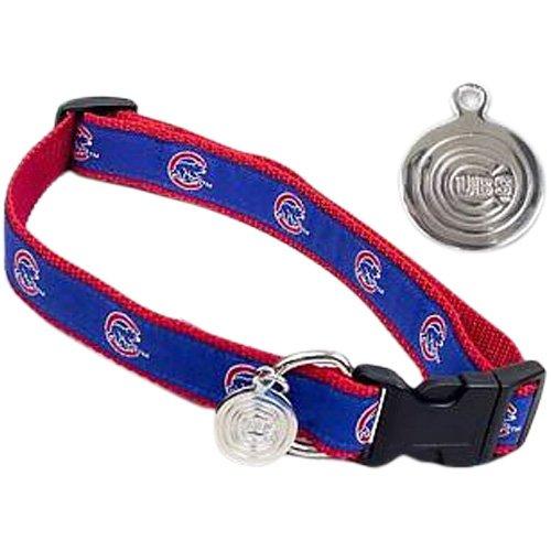 Sporty K9 Chicago Cubs Dog Collar, Medium/Large, My Pet Supplies