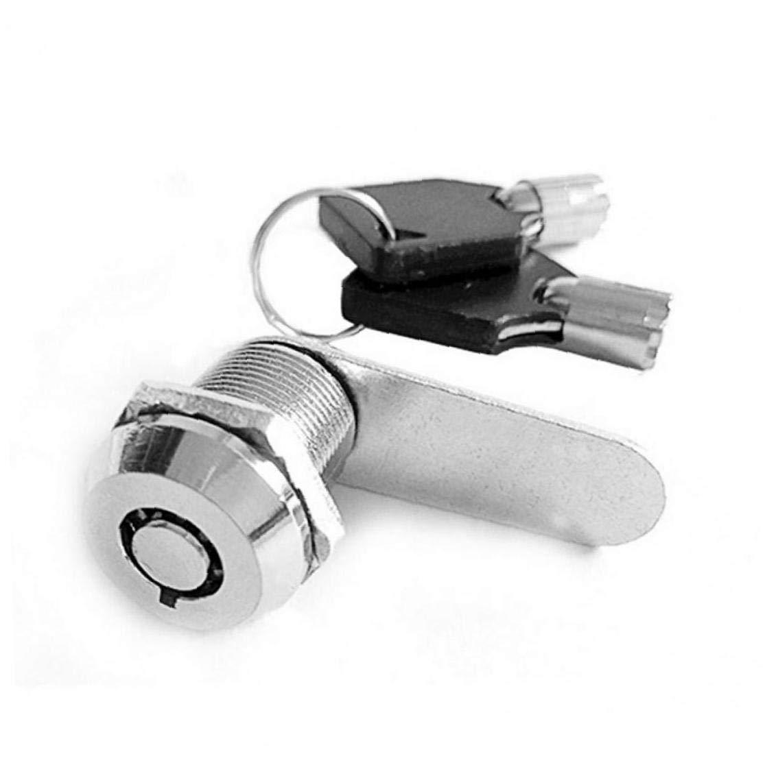 PC 1 20mm Buz/ón cerraduras Portable Pr/áctico caj/ón del Armario Armario de Seguridad Cerraduras de Muebles Mango de pl/ástico
