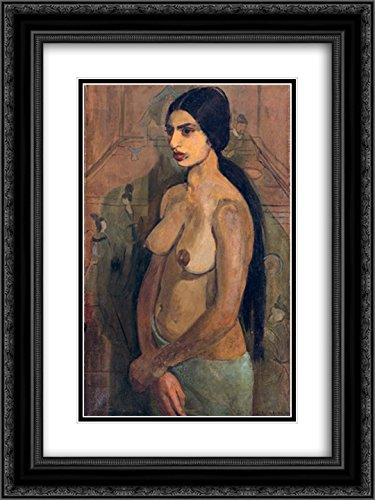d0ea4b4f4c48 Image Unavailable. Image not available for. Color: Amrita Sher Gil 2X  Matted 18x24 Black Ornate Framed Art Print 'Self Portrait ...