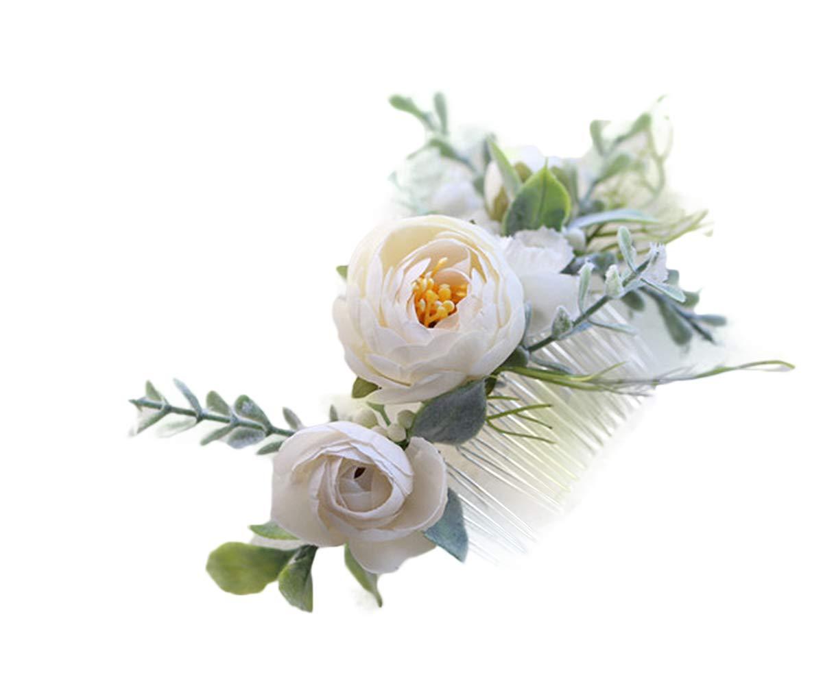 FIDDY898 Floral Crown Green Headpiece Bridal Accessories Wedding Crown (Head-comb) by FIDDY898