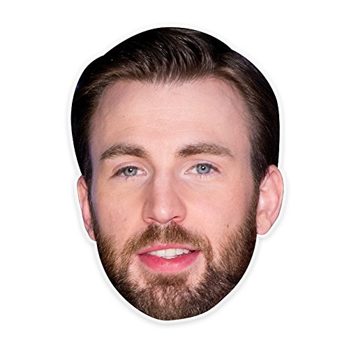 Surprised Chris Evans Mask, Perfect for Halloween, Masquerades, Parties, Festivals, Concerts - Jumbo Size Waterproof -