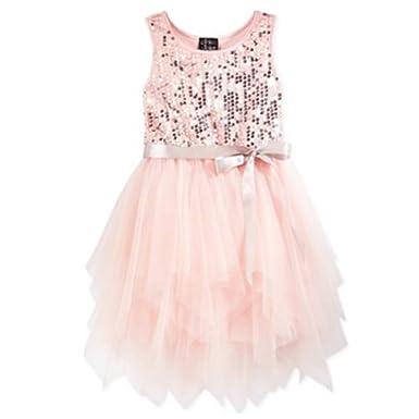 675cd37537 Amazon.com: Pink & Violet Little Girls' Blush Fairy Sequin Dress (4 ...