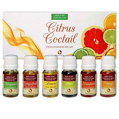 HandsUnity Citrus Essential Oils Kit Set, Italian Aromath...