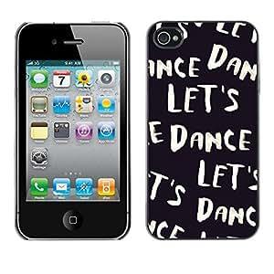 Design Hard ShellBlack White Text Music Dancer For HTC One M9 Case Cover