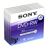 SONY DVD-RW, 1.4Gb 30 min, pack 4+1, camcorder mini dvd, 1.4 gb, sony dvdrw, 4+1