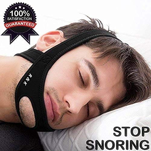 Anti Snoring Chin Strap, Stop Snoring Device and Snore Reduction,Adjustable Snoring Solution Chin Strap (Black) (Cpap Supplies Chin Strap)