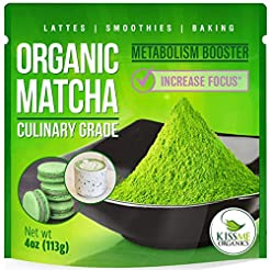 Kiss Me Organics Matcha Green Tea Powder...