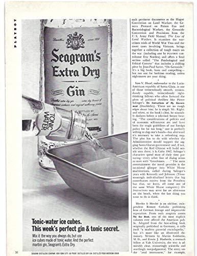(1971 Vintage Print Ad Seagram's Extra Dry Gin   Tonic Water Ice Cubes Bar Décor)