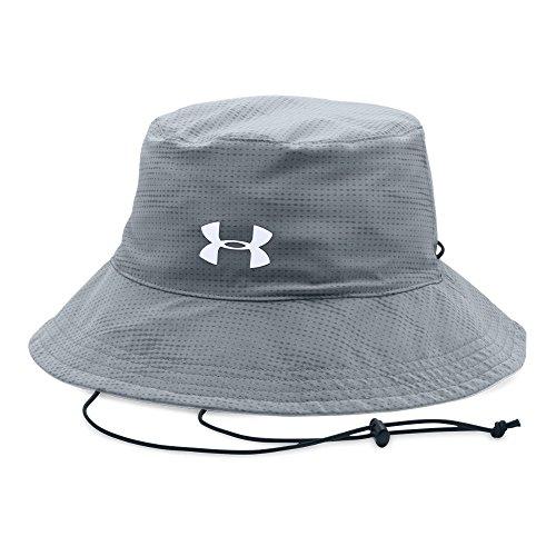 Under Armour Mens Switchback 2.0 Bucket Hat, Steel (036)/White, One Size