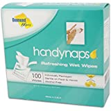Handynaps Pre-Moistened Refreshing Hand Cleaning Wet Wipes, Individually wrapped 100 Count Box