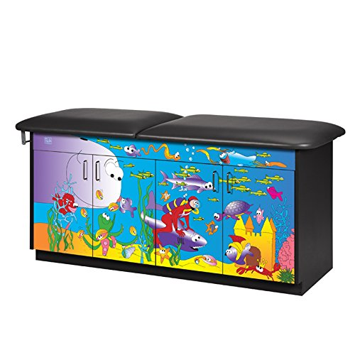 CLINTON THEME SERIES TREATMENT TABLES 4 Door table-Ocean Comm w/ back Item# - Series Tables Scale Theme