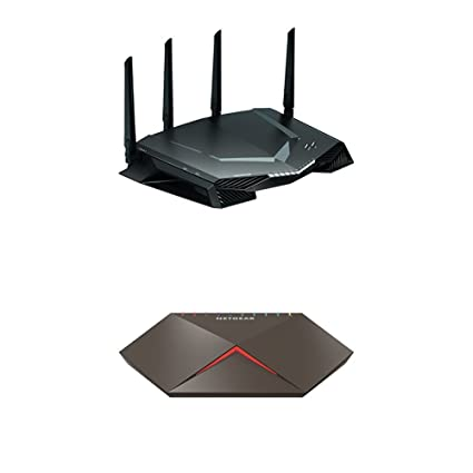 NETGEAR Nighthawk Pro Gaming Lag Killer Bundle | XR500 AC2600 WiFi Router  Powered by Netduma DumaOS | GS810EMX 10 Port Multi-Gigabit Switch |