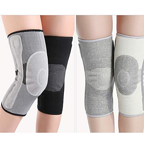 TY BEI Kneepad Kneepad Men and Women Warm Knee Joints Plus Velvet Thickening Self-Heating Knee Pads - 5 Sizes Optional @@ (Color : Gray, Size : S) by TY BEI (Image #1)