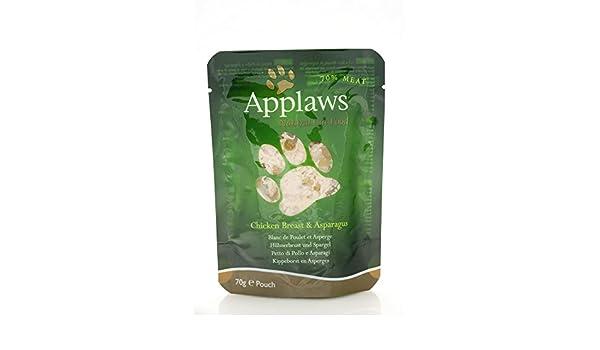Applaws Comida humeda para Gatos Gato Pouch Pollo y esparrago 70 gr: Amazon.es: Productos para mascotas