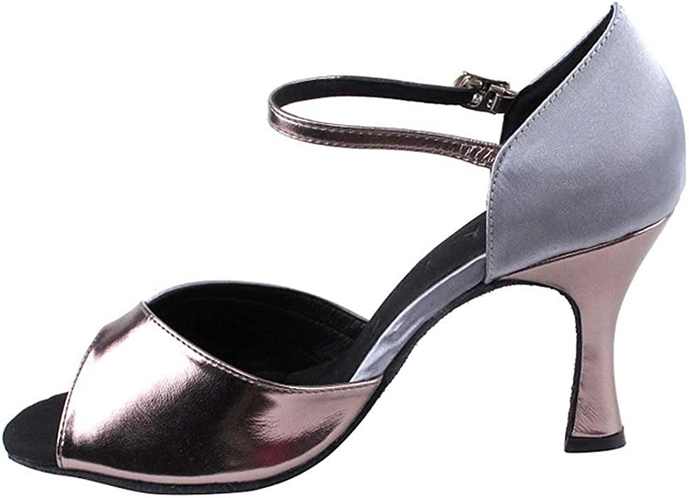 Bundle of 5 Womens Ballroom Dance Shoes Tango Wedding Salsa Dance Shoes Grey Satin /& Pewter Trim Sera3710EB Comfortable Very Fine 2.5 Heel 5.5 M US