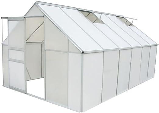 vidaXL Invernadero Policarbonato Aluminio 490x250x195 cm Vivero Planta Cultivo: Amazon.es: Jardín