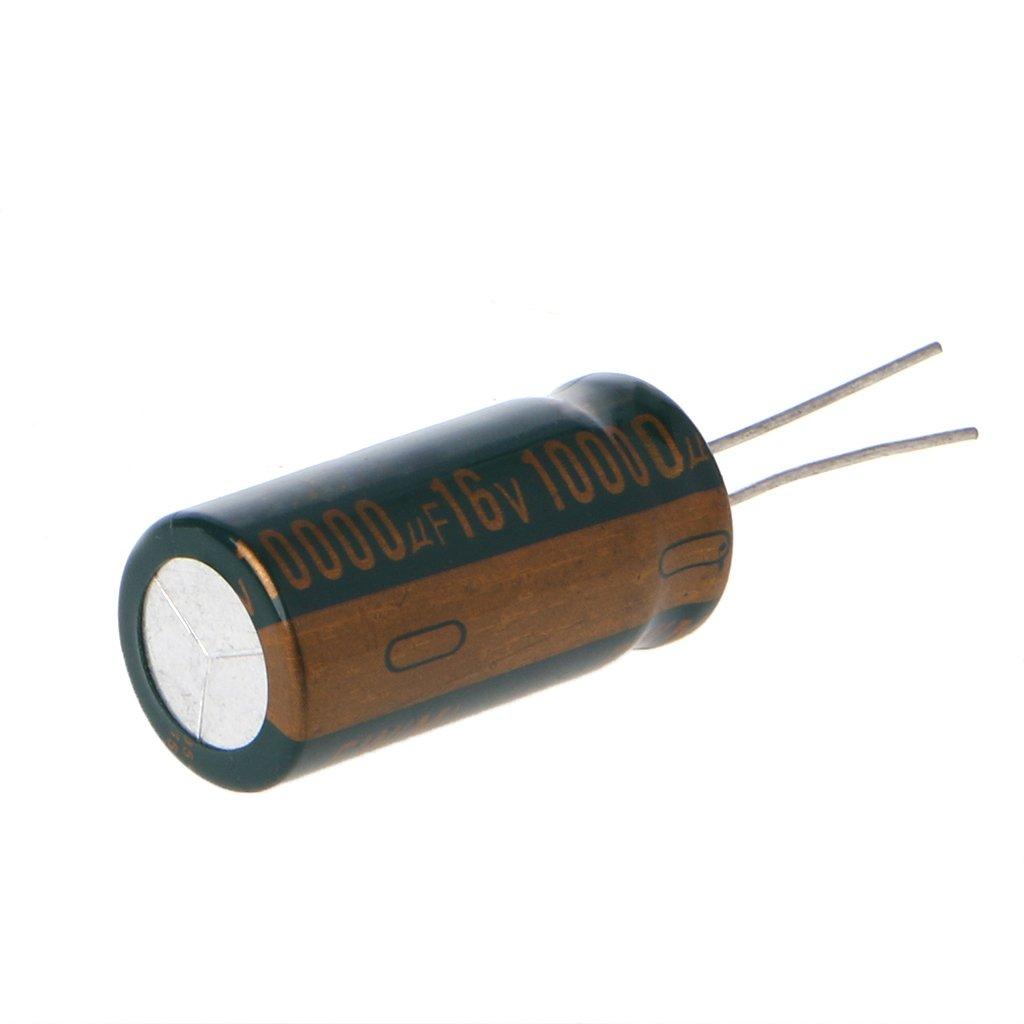 Yintiod 16V 10000uF Kapazit/ät Elektrolytischer Radialkondensator Hochfrequenz Niedriger ESR