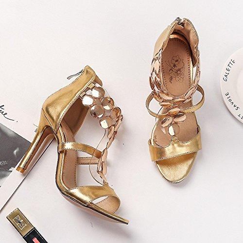 tacco signore golden i sandali signore sexy super sandali alto semplice 36 moda sandali 6KBBqaP1UF