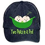 XingL Unisex Two Peas In A Pod2 Adjustable Washed Hat Baseball Caps
