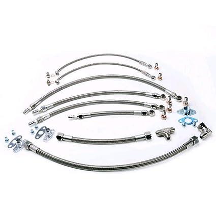 Amazon.com: Kinugawa TOYOTA 1JZ-GTE 2JZ-GTE HKS T3G Garrett T25 Turbo Oil & Water Line/Install Kit: Automotive