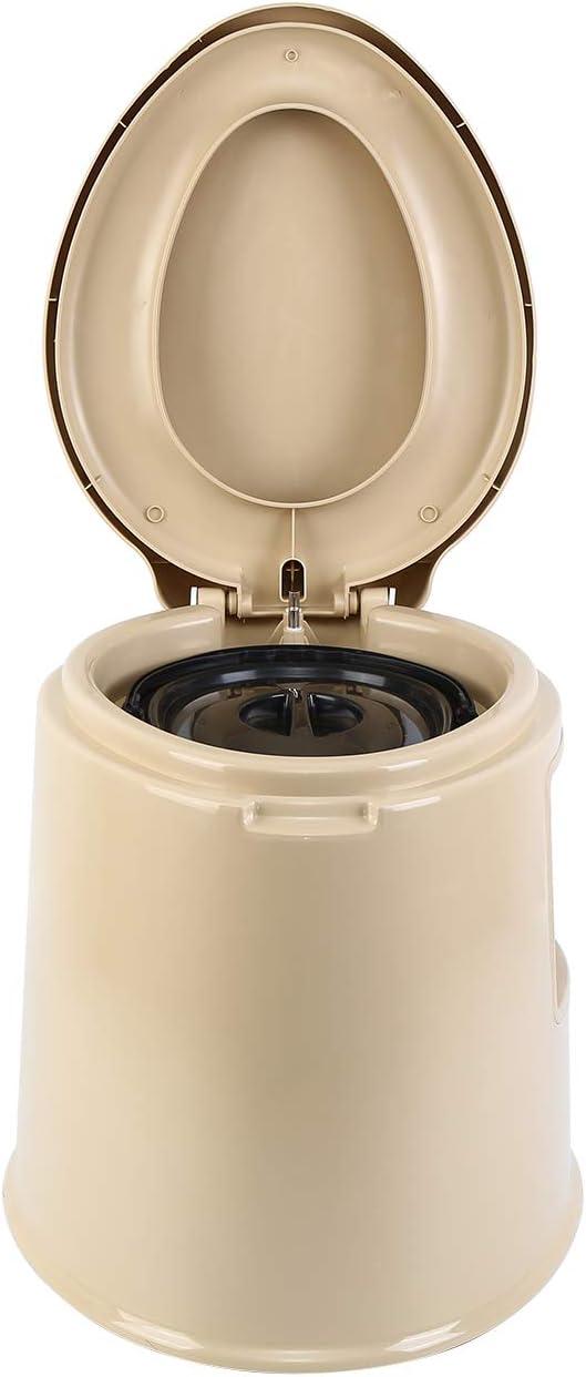 MuGuang Camping Toilette Voyage Portable Toilette Antid/érapant avec seau int/érieur creux pour voyages h/ôpital randonn/ées plein air pique-nique camping