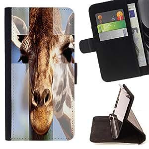 Skull Market - FOR Samsung Galaxy S4 IV I9500 - I look ugly - Caja de la carpeta del tir¨®n del cuero de la PU [con ranuras para tarjetas y cierre de solapa magn¨¦tica] P¨¢rese cubierta de la caja
