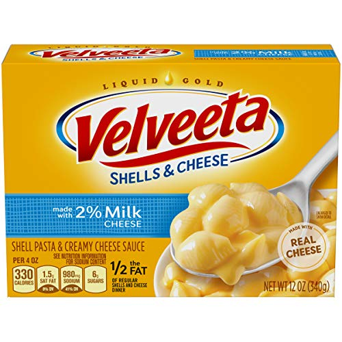 Velveeta Shells & Cheese with Milk (12 oz Boxes, Pack of 12)
